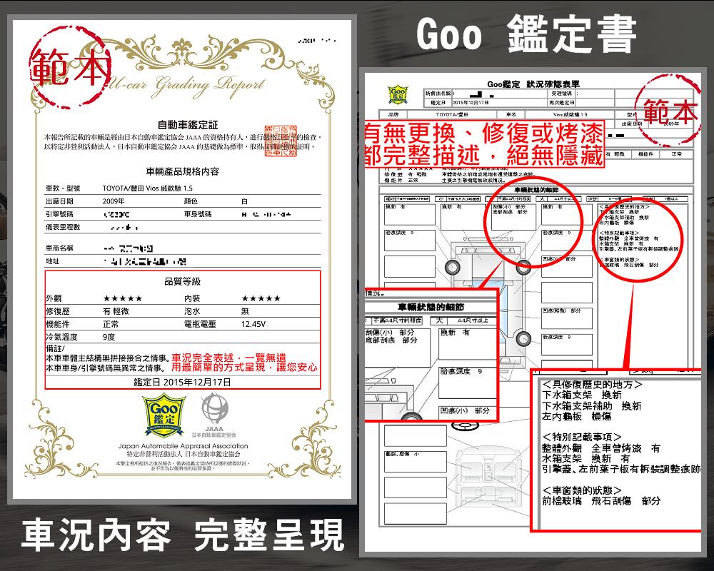 GOO鑑定-認證書範本